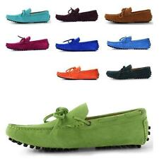 Mens Driver shoes casual Lace Up Suede Loafer fashion Leather mens boat Slip On