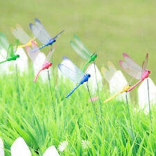 2PCS Dragonfly On Sticks Popular Art Garden Vase Lawn Craft Decoration 4Colors
