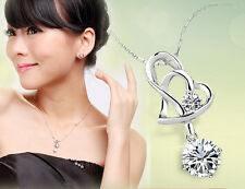 Delicate Crystal Necklace Pendant Heart  With Heart New Style