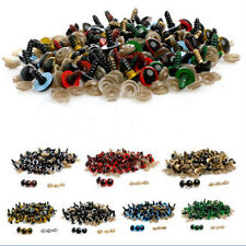 100pcs 10-12mm Plastic Safety Eyes For Plush Toy Doll Animal Puppet Crafts