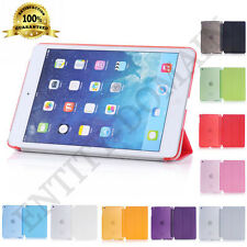 Ultra Thin Smart Flip Magnetic Stand Transparent Back Case Apple iPad Mini 2-3