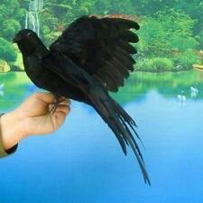 Black Real Size Flying Crow Horror Haunted Halloween Raven Bird Crows Taxidermy