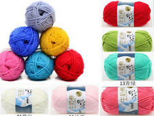 1 Skein x 50g Super Soft Bamboo Cotton Baby Hand Knitting Crochet Yarn 10 Colors