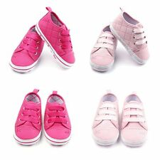 Kids Baby Boots Girls Lace Up Soft Sole Crib Sneakers Shoes Toddler Shoes 0-12M