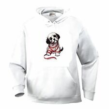 Nature Pets Animals Pullover Hooded Sweatshirt Dog Puppy Wrapped Red Ribbon