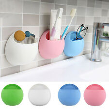 Bathroom Wall Colorful Suction Cup Toothbrush Rack Toothpaste Holder Stand Newly