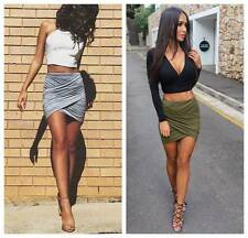 Fashion Women's Sexy MINI SKIRT Slim Stretch Tight Short Fitted Pleated skirt