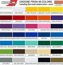 5 ft ROLLS by 12 in You Pick from 36 Colors Oracal 651 Vinyl craft hobby signs
