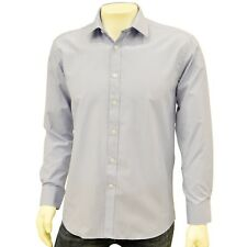 THOMAS APPLEBEE MENS BLUE TEXTURED FABRIC BUSINESS/CASUAL BUTTON THROUGH SHIRT