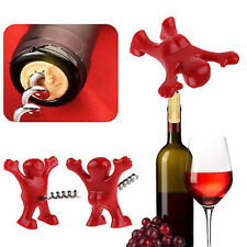 Funny Man Guy Wine Stopper Novelty Bar Tool Wine Cork Bottle Plug Perky New