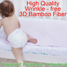 80x70cm 3D Oversized Bamboo Fiber Changing Mat Breathable Children Urine Pad