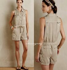 NWT Anthropologie Utility Safari Romper by Marrakech sz S Cute & Adorable, Soft
