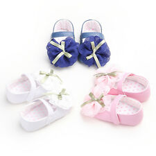 Toddler Baby Infant Girl  Princess Bowknot Cute Dress Crib Prewalker Shoes  QSTL