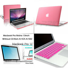 Frosted Hard Rubberized Case For Macbook Pro Retina Keyboard Cover Screen Film