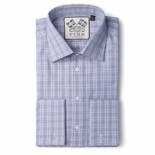 Thomas Pink Beaufort Slim Fit Purple Check Super 120s Shirt Made In U.K RRP £145