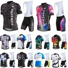Fashion Men's Short Sleeve Bicycle Cycling Jersey Shirt Bib Shorts Pants Suit