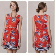 NEW L Anthropologie Petaluma Peep Hem Dress by Porridge Cute Flattering Colorful