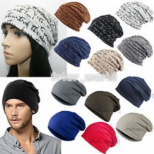 Beanie Hat Mens Ladies Knitted Winter Oversized Slouch Baggy Warm Floppy Cap Pop