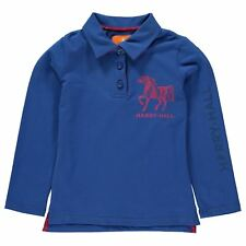 Harry Hall Kids Willerby Rugby Top Long Sleeve Polo Shirt Boys Robinsons New