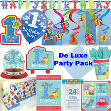 1st Birthday Boy Blue Party Supplies - All in same listing - FREE DELIVERY