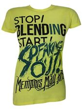 Memphis May Fire Speaking Out Ladies Yellow T-Shirt - NEW & OFFICIAL