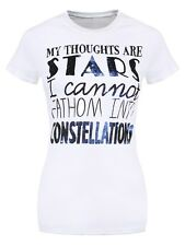 The Fault In Our Stars My Thoughts Are Stars Ladies White T-Shirt