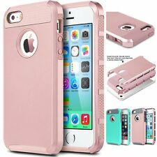 For iPhone SE iPhone 5 Hybrid Defender Full Body Rugged Protect Hard Cover Case