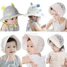 Lovely Infant Newborn Baby Butterfly Lace Hat White Princess Cap Sun Hat