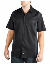 Dickies Men's Two Tone Short Sleeve Work Shirt Size M-3XL NWT Quality Counts