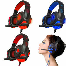 QNNB USB 3.5mm Surround Stereo Gaming Headset Headband Headphone with Mic For PC