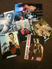 Choice Of Signed Boxing Photos. Approx 6x4 Inch. Champs & Challengers