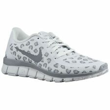 Nike Free 5.0 V4 women sneakers in white cheetah / leopard & grey -free shipping