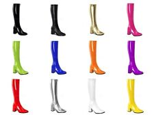 FUNTASMA Gogo-300 Gogo Dancer Super Hero Hippie Costume Fashion Knee Boots 5-16