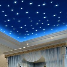 100PCS Luminous Star Wall Stickers Decal Baby Kids Childrens Bedroom Decor
