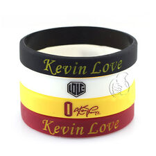 4pcs Kevin Love  0 Silicone Wristband Rubber Bracelet Basketball Sport