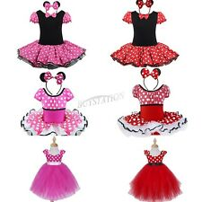 Girls Kids Minnie Mouse Dress Up Cosplay Party Fancy Costume Ballet Tutu Dresses