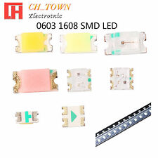 50 100pcs 0603 1608 SMT SMD LED Emitting Diodes White Blue RGB Light Lamp Bulb