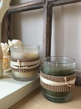 Glass Candle Votive Vanilla or Lemongrass Fragrance Rustic Tea Light Holder