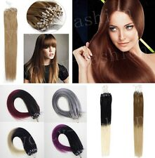 16-26inch Indian Easy Loop Micro Ring Beads 100% Remy Human Hair Extensions 100S