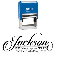 Personalized Stamper Family Address Pre-Inked Custom Stationary Rubber Stamp