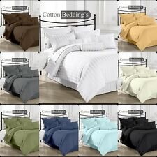 1000 TC 100% Egyptian Cotton UK Size Fitted/Flat Sheet/Bed Skirt/Duvet/Sheet Set