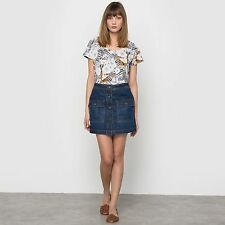 R Studio Womens Denim Skirt With Patch Pockets