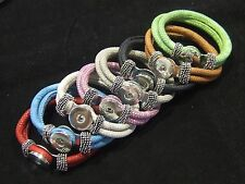 Noosa Style Bracelet Faux Snake Skin 4 18/20mm Noosa Chunk Chunks Snap On Charms