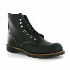 Red Wing Iron Ranger Black Leather Mens Boots
