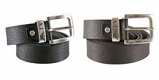ARMANI JEANS - Men's python belt with metal buckle