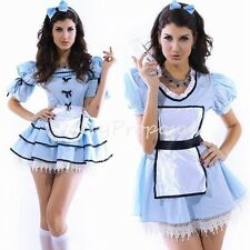 Sexy Alice in Wonderland Pale Blue Maid Dress Adult Women Halloween Costume USA