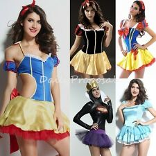 Sexy Fairytale Princesses & Evil Queen Dress Adult Women Halloween Costume USA