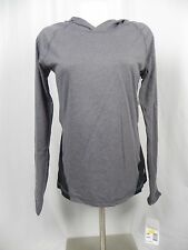 NEW Girl's Soffe 2 Tone Gray & Black Long Sleeve Pull Over Hoodie Top (S1-17)