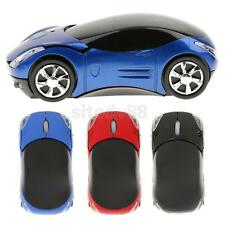 Wireless Optical Mouse Cordless Light Car Shape USB Receiver for Computer Laptop