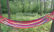 "75"" x 31"" Canvas Fabric Double Spreader Bar Outdoor Camping Travel Hammock"